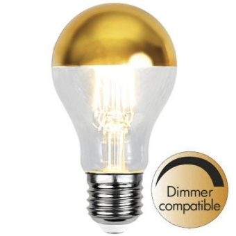 Normal 4W (32W) Toppförspeglad Dimbar Guld LED E27