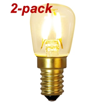 Päronlampa 1,3W (10W) Soft Glow LED E14, 2-pack