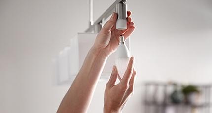 Byta lågenergilampor till LED