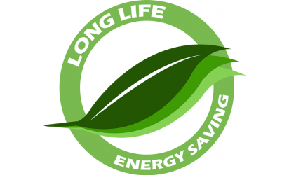 Miljösymbol long life energy saving halogenlampor