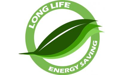 Miljösymbol Long Life Energy Saving LED lampor