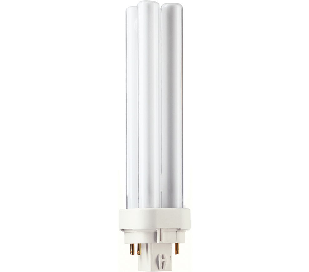 Kompaktlysrör PL-C D/E 4-stift G24q-2, 18W-830