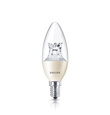 Philips LED Kronljus 4W (25W) E14 827 B38 DimTone CL (Master)