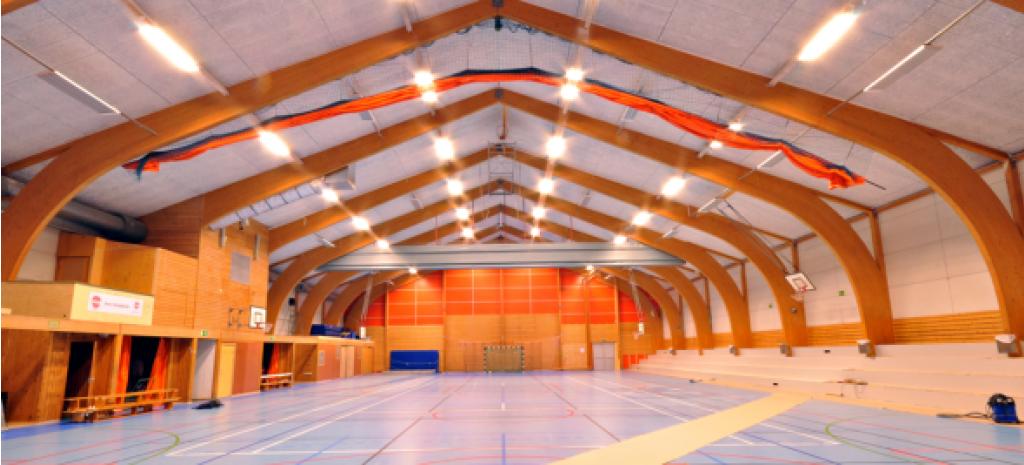 Armaturer för sporthall med LED