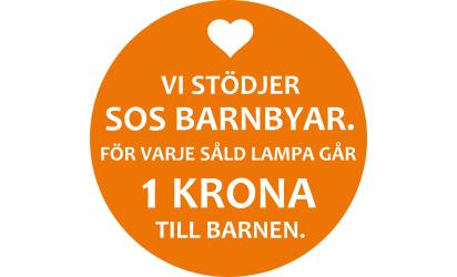 Vi stödjer SOS Barnbyar Kompaktlysrör