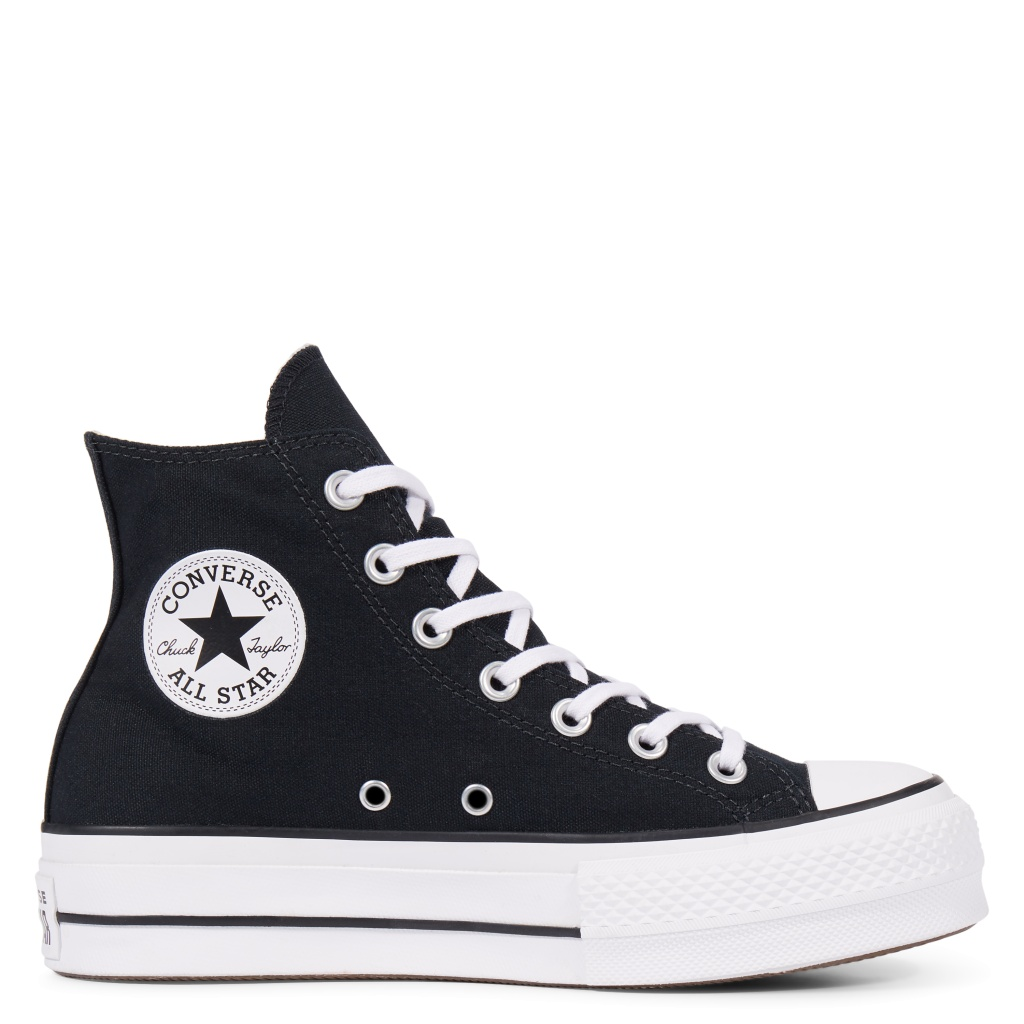 All Star HI Platform Black Canvas