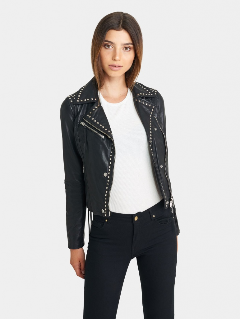 Florence Leather With Studs
