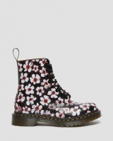 1460 PASCAL FLORAL LEATHER ANKLE BOOTS