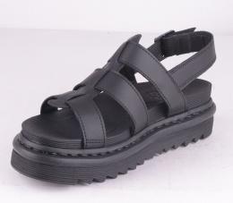 Yelena Sandal Black Leather