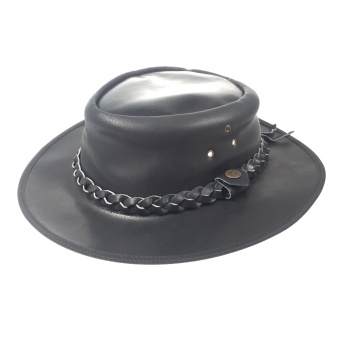 LEATHER COWBOY HAT BLACK