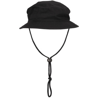 GB Bush Hat, chin strap, SF Boonie, Rip Stop, black