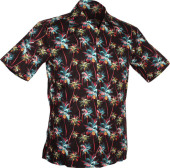 1820 S/S Palm Trees Black