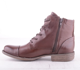 4476-101 Lace Zip Boot Ebano Brown