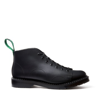 7 Eye Monkey Boot Black Greasy