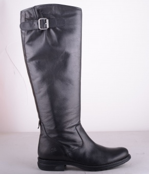 7195-101 High Zipper Boot Black