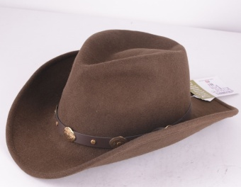 Amarillo Brown Crushable Wool Hat