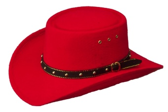 Gambler Hat Red
