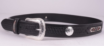 Black Inka Belt (removable buckle)