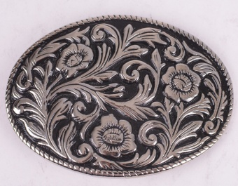 Black Pattern Belt Buckle