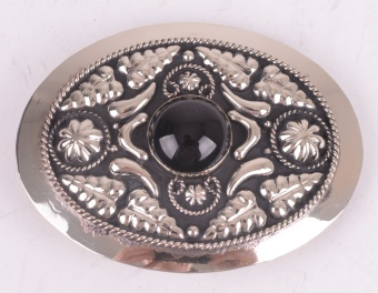 Black Pearl Belt Buckle