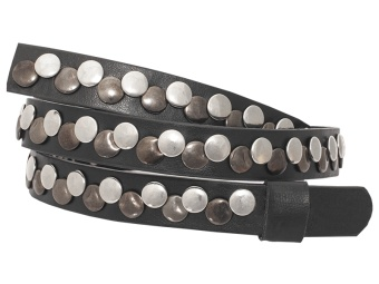 Black Studded Band W