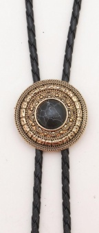 BT-9075 Antique Gold with Black Stone