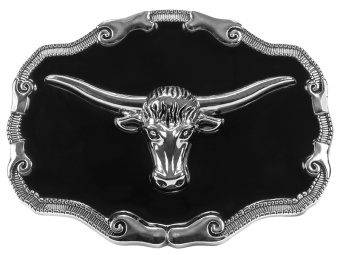 BU-1001 Belt Buckle - Steer Head