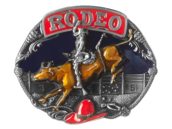 Belt Buckle - Bullrider & Red Hat