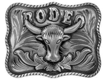 Belt Buckle Rodeo Steer Head