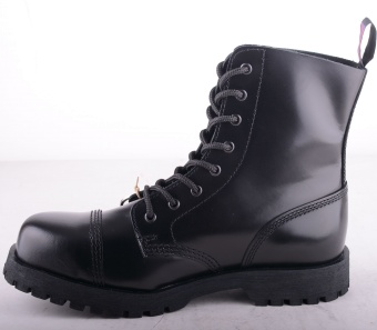Black Grip 8 Eye Steel Boots