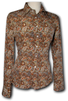 Blouse Paisley Brown Woman