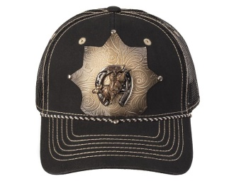 Cap - Bull Rider - Black & Tan