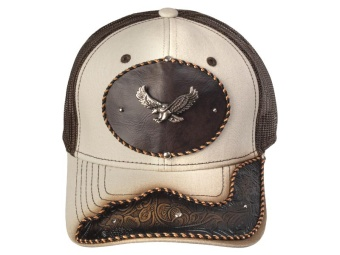 Cap - Eagle - Brown & Beige