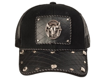 Cap - Steer Skull - Black