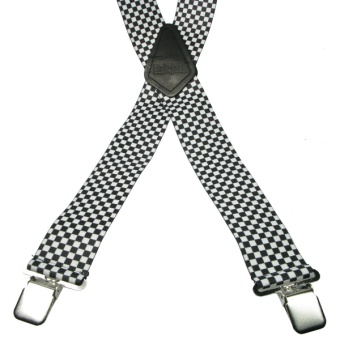 Checker 4 Clip Braces / Suspenders