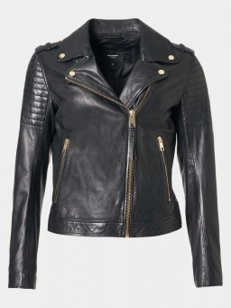 Cinnamon Black Leather Jacket