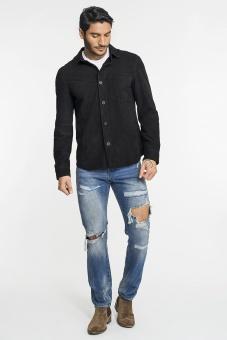 KING 8 Goatsuede Shirt Black