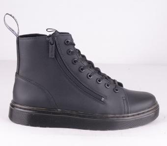 Talib Double Zip Black Leather