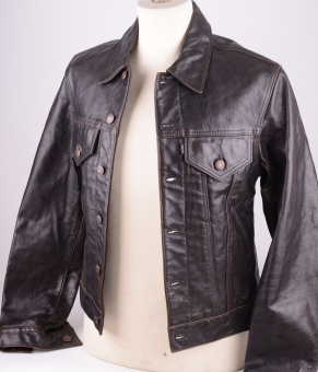 Levi's Brown/Black Leather Trucker 1993 version, Size M