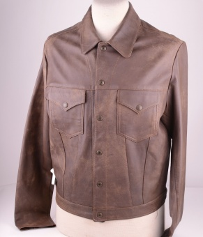 LVC Brown Leather Shirt ca 2005, size M (40)