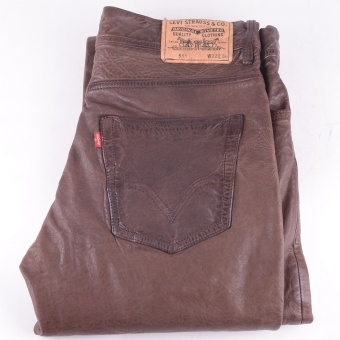 Levi's 511 Brown Leather Jeans 32-34