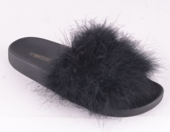 Feathers Slip On Black