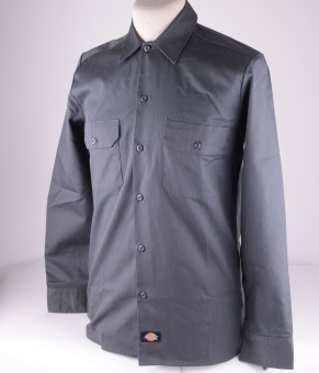 L/S Slim Shirt Grey