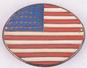 America Oval Belt Buckle