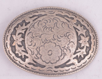 Flowerbed Belt Buckle