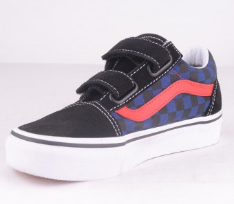 Old Skool Kids Check Blue/Black