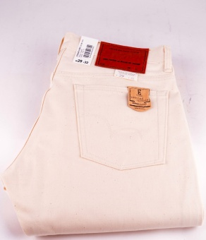 E-Standard Tapered Off White Selvage Denim