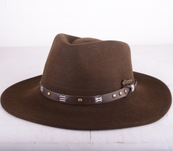 Emerald Brown Felt Hat