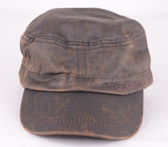Field Cap Brown Leather