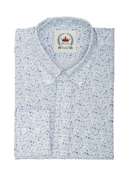 Floral Shirt White/Blue